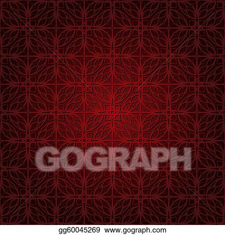 Seamless wallpaper pattern dark red