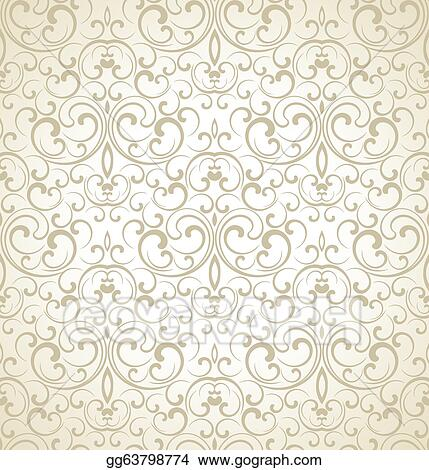Vector Illustration - Seamless wedding card background. Stock Clip Art gg63798774 - GoGraph