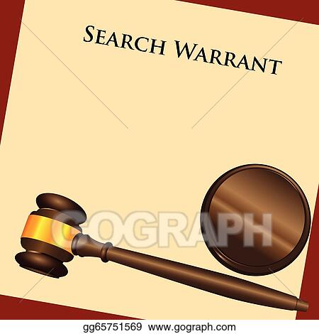Vector Stock - Search warrant. Stock Clip Art gg65751569 ...