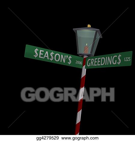 Season's Greedings Sign