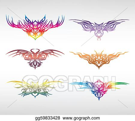 Set art elements of ornament. Vector