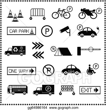 Set Of Car Parking Icons Gg64986164