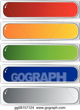 Set of color long buttons