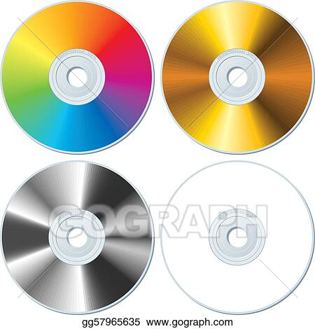 Set of four blank CDs