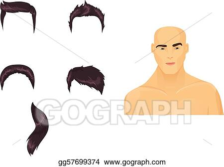 Stock Illustration - Set of male haircuts. Clipart gg57699374