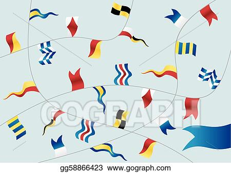 Set of nautical flags.