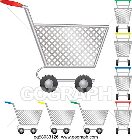 Set of shopping cart for online shop, icon for e-commerce, vector illustration