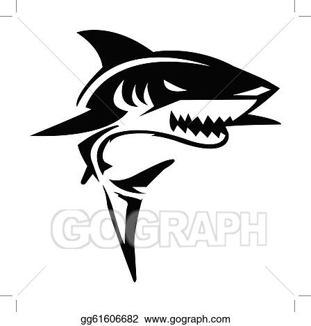 Eps Vector Shark Vector Illustration Stock Clipart