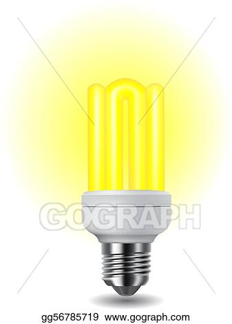 Shiny energy saving light bulb
