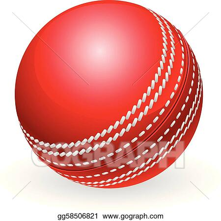 Shiny red traditional cricket ball
