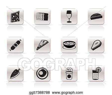 Shop, food and drink icons 2 