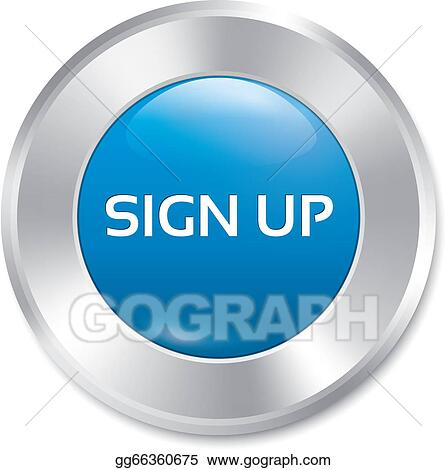 EPS Illustration - Sign up glossy blue button. vector ...
