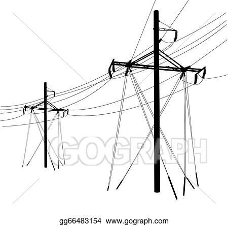 silhouette of high voltage power lines vector illustration_gg66483154 basic electrical wiring outlet basic find image about wiring,Basic Electrical Wiring Diagrams For Bedroom