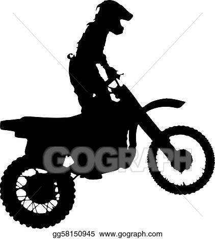 Motorcycle Racing Silhouette Silhouette of motorcycle.