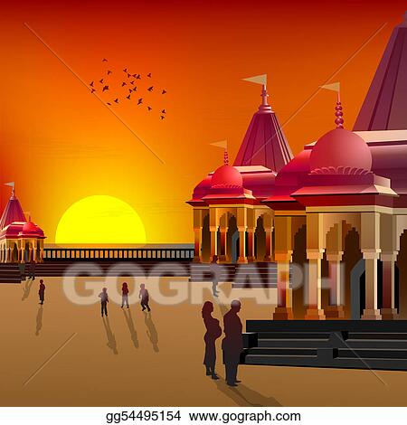 silhouette view of temple, place of worship