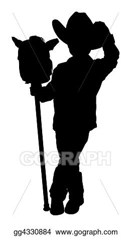 Stock Illustration - Silhouette with clipping path of little ...