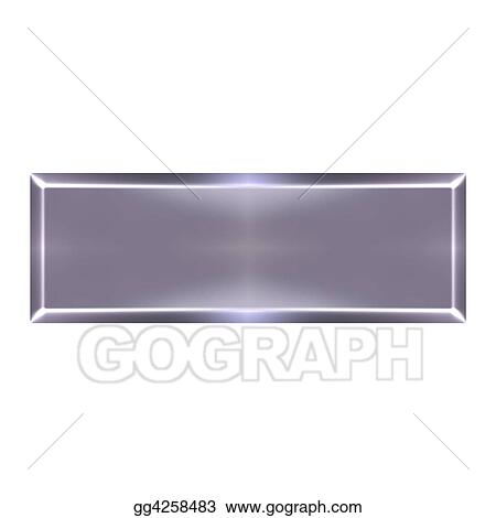 Drawing - Silver bar. Clipart Drawing gg4258483 - GoGraph
