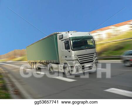 Silver Truck Driving Fast