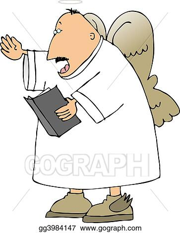 Stock Illustration - Singing angel. Clipart Drawing gg3984147 ...