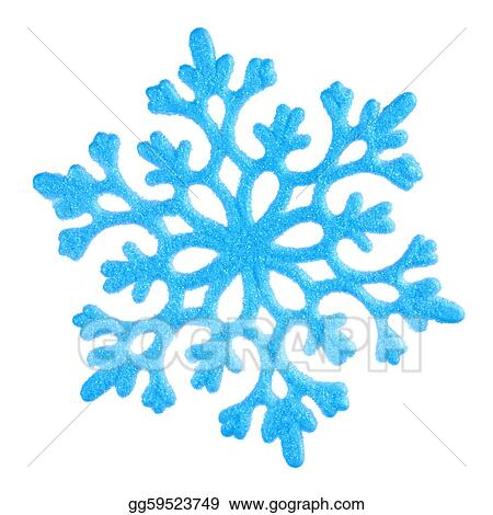 Single blue snowflake on white