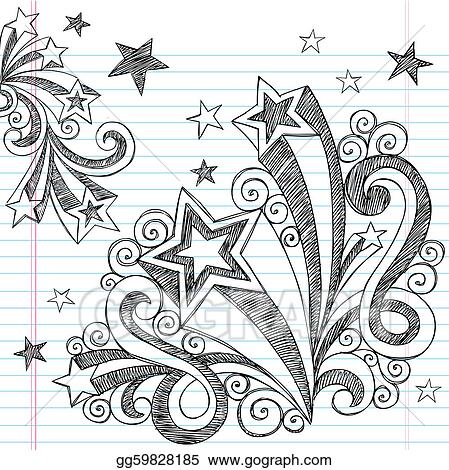 Shooting Stars Clip Art - Royalty Free - GoGraph