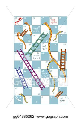 Stock Illustration - A customisable print and play snakes and ladders ...