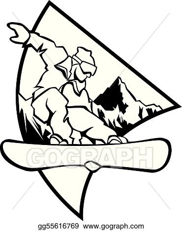 Snowboard Clip Art - Royalty Free - GoGraph