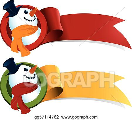 Snowman Christmas Web Ribbon