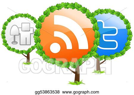 Social media trees icon