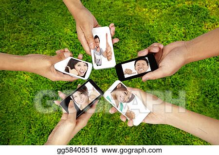 Social network on the smart phone of young group