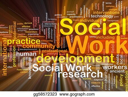 Social work background concept glowing