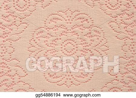 soft lace doily on pink