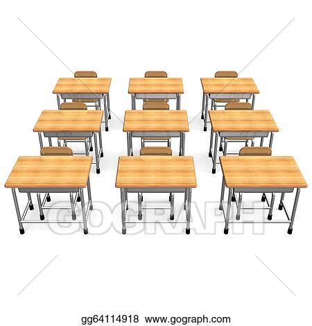 School Desk Clip Art Some school desk front view