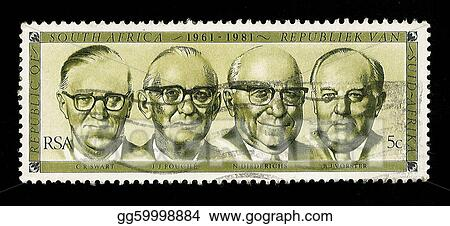 South Africa Postage Stamp State Presidents 1961-1981