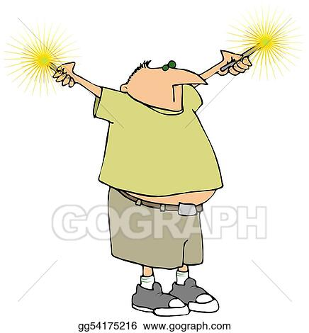 drawing sparkler man clipart drawing gg54175216