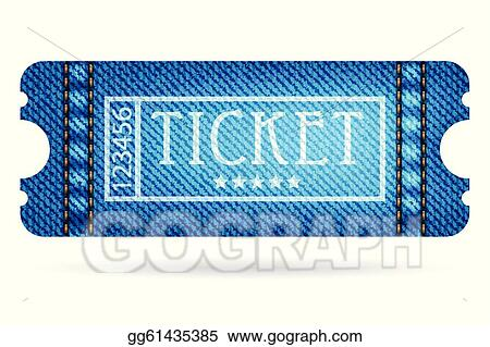 Clip Art Special Ticket With Jeans Design Stock