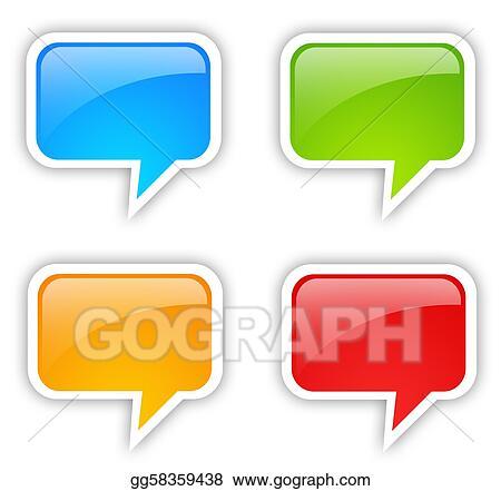 Stock Illustrations - Speech bubble set. Stock Clipart gg58359438