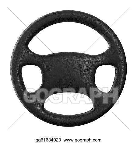 Clipart - Steering wheel on white background. Isolated 3D ...
