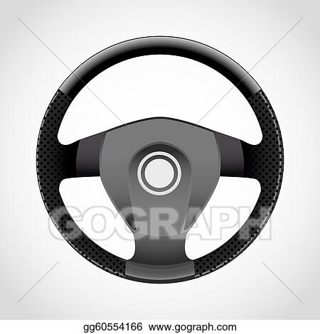 Drawing - Steering wheel - realistic illustration. Clipart ...