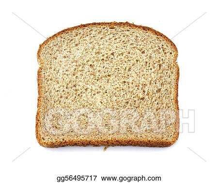 Stone ground whole wheat bread slice