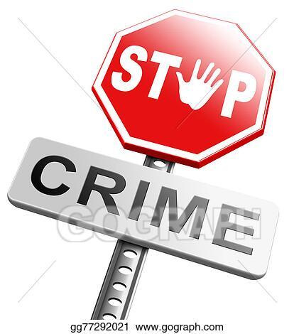 stock illustration stop crime sign clip art gg77292021. Black Bedroom Furniture Sets. Home Design Ideas