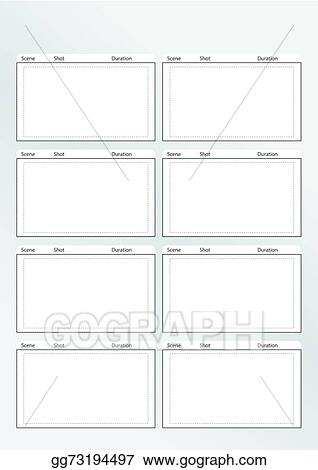Clip Art Vector - Storyboard Template Vertical X8. Stock Eps