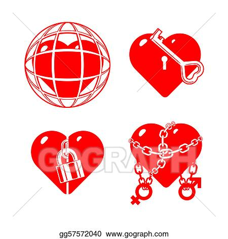 stylised hearts on a hobby theme.