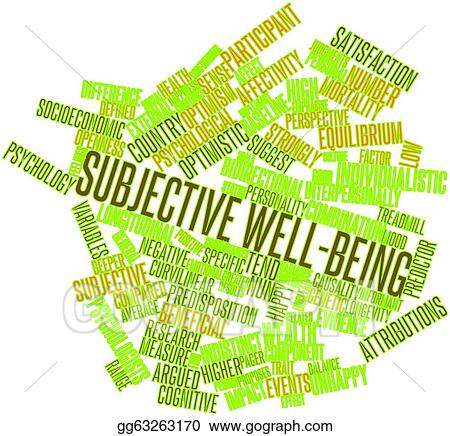 Drawing - Subjective well-being. Clipart Drawing gg63263170 - GoGraph
