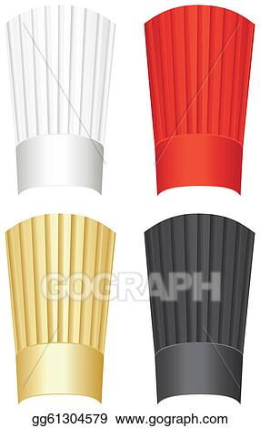 Drawing - Tall chef's hat. Clipart Drawing gg61304579
