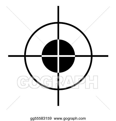 Stock Illustration - Target cross hairs. Clip Art gg55583159 - GoGraph