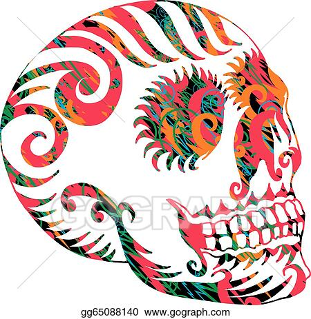 eps tribal tattoo art tribal tattoo skull mexican vector
