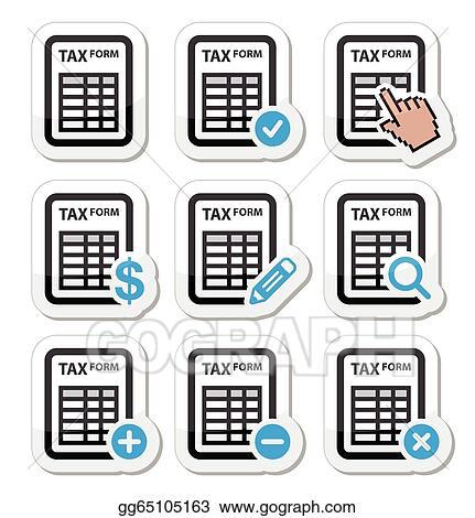 Tax Form Taxation Finance Icons Gg65105163