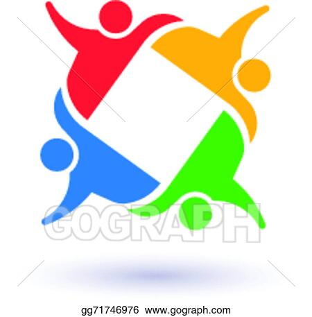 EPS Illustration - Team 4 committee.concept group of people united ...
