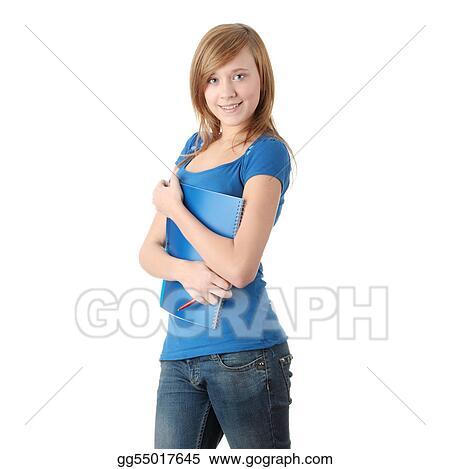 Teen student girl
